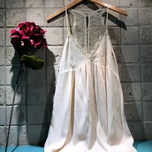 LUCCA CREAM LACE SLIP DRESS NWT L